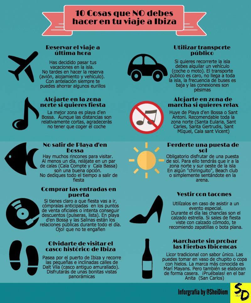 10 cosas que no debes hacer en tu viaje a ibiza sheidiem - Que hacer en vacaciones ...
